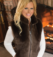 Women's & Men's Beaver Fur Vests