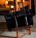 Sheared Fur Shoulder Bags, Handbags & Purses