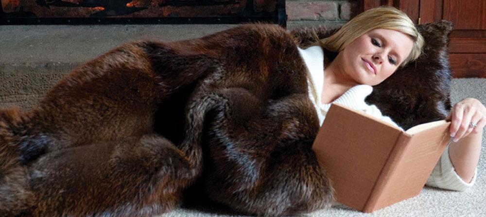 Fur Blankets Fur Throws Mens Womens Fur Vest Hats Adirondack Stunning Mens Throw Blanket